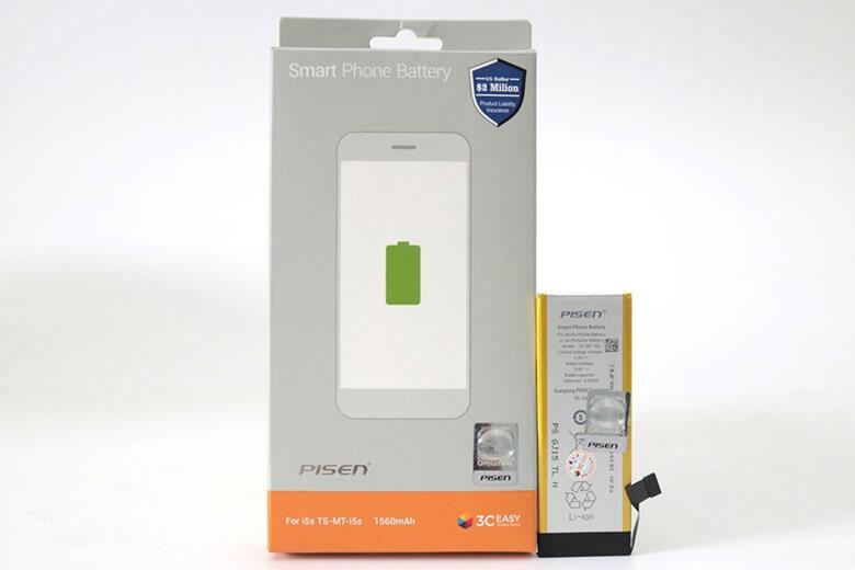 Thay pin iPhone 5 bằng pin Pisen là một loại pin chất lượng được sản xuất từ thương hiệu Pisen nổi tiếng về linh kiện rời được bán rẻ trên toàn thế giới đến từ Trung Quốc. Pin Pisen là loại pin được sản xuất chuyên dụng an toàn tuyệt đối