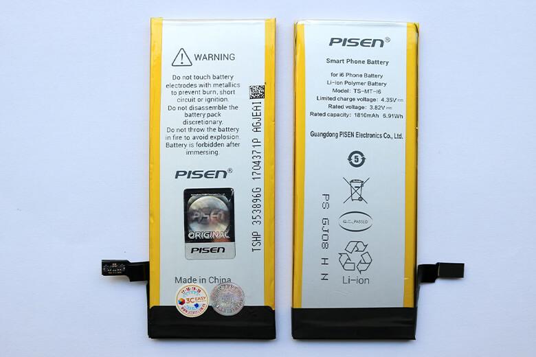 Pin Pisen được thiết kế lõi Polymer cao cấp giúp cho việc sạc pin trở nên nhanh chóng, tiết kiệm được nhiều thời gian. Bên cạnh đó, những thỏi pin Pisen iPhone 6 sẽ có sự chênh lệch đáng kể so với pin dung lượng chuẩn.