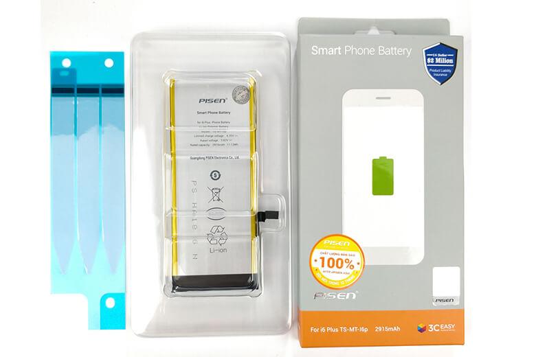 Thay pin Pisen iPhone 6 Plus là một loại pin chất lượng được sản xuất từ thương hiệu Pisen nổi tiếng về linh kiện rời được bán rẻ trên toàn thế giới đến từ Trung Quốc. Pin Pisen là loại pin được sản xuất chuyên dụng an toàn tuyệt đối