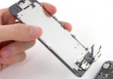 Cảnh thay màn hình iPhone 6, 6 Plus zin bóc máy