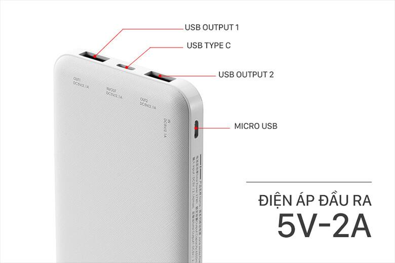 Pin sạc dự phòng Remax RPP-119 10.000mAh có hiệu suất 37Wh/3.7V khiến người dùng có thể thoải mái sạc đầy pin cho thiết bị của mình nhiều lần trong một ngày.