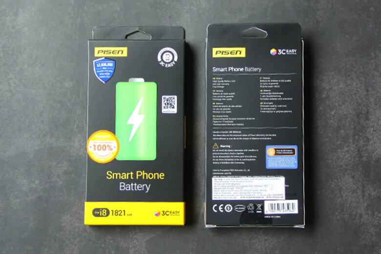Pin Pisen iPhone 8 sản phẩm của của tập đoàn Điện tử Pisen, một trong những thương hiệu nổi tiếng trên chuyên sản xuất các linh kiện, phụ kiện điện tử thành lậphơn 16 năm đến từ Trung Quốc.