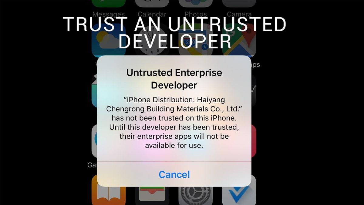 Untrusted Developer trên iOS là gì và cách sửa lỗi thế nào?
