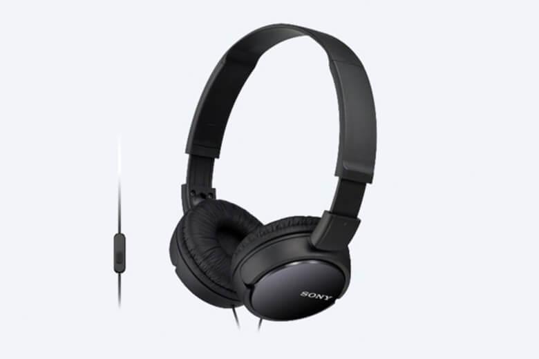 Tai nghe choàng đầu Sony MDR - ZX110AP được thiết kế với trọng lượng rất nhẹ chỉ 120g giúp cho người dùng không có cảm giác bị nặng tai sau khi sử dụng với thời gian dài.