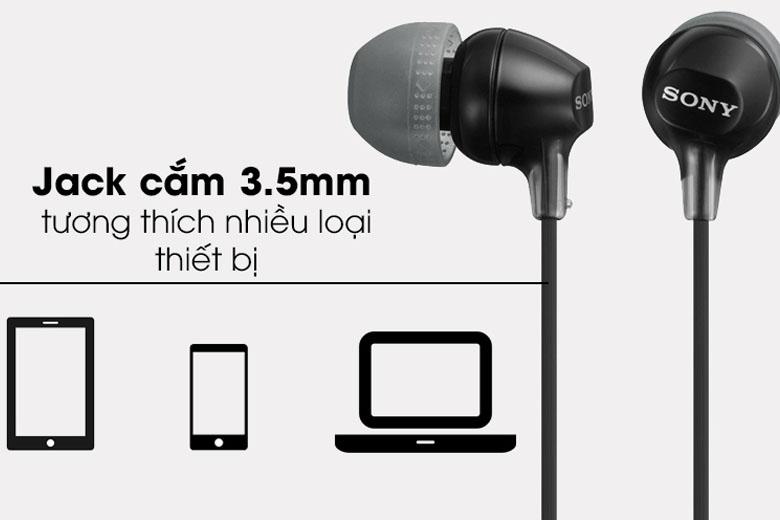 Tai nghe Sony MDR – EX15AP kết nối tốt