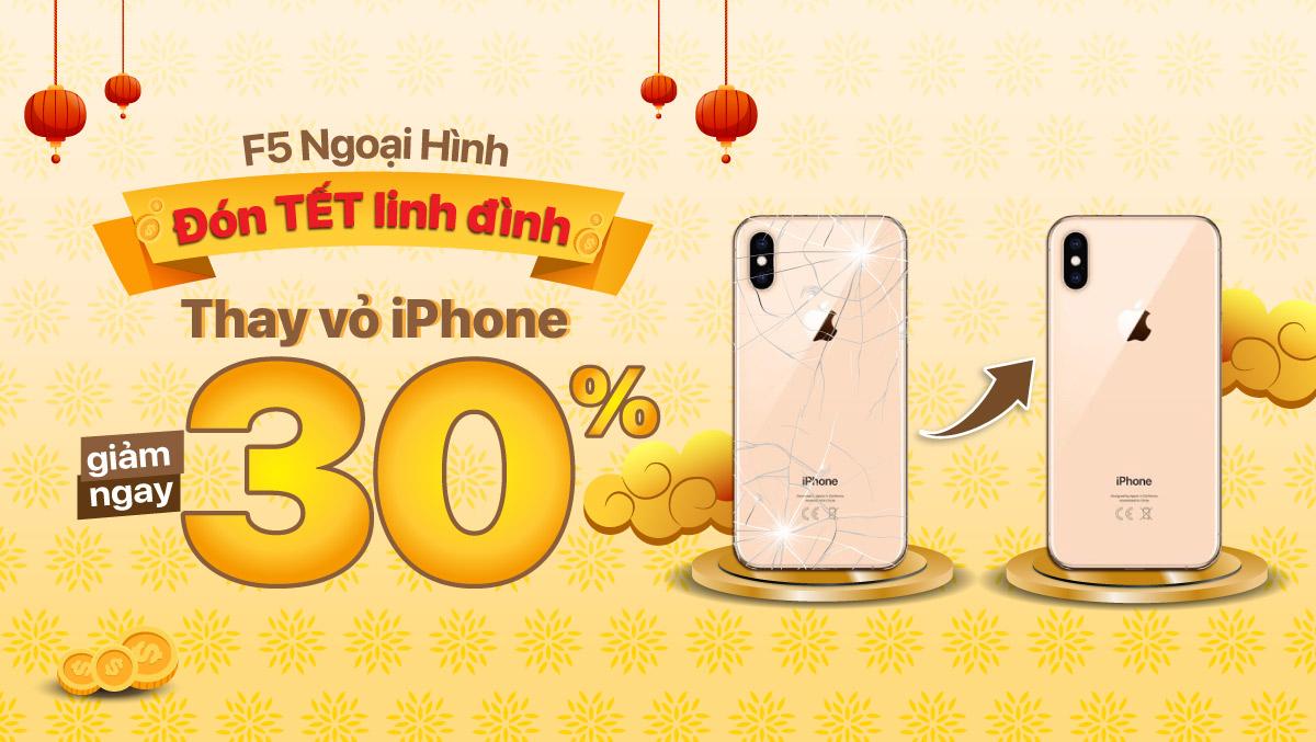 F5 ngoại hình, Giảm ngay 30% khi tham gia thay vỏ iPhone tại Viện Di Động