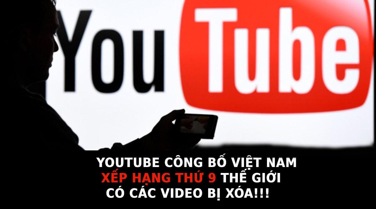YouTube công bố Việt Nam nằm trong TOP 9 quốc gia có số lượng video bị xóa nhiều nhất trong quý III