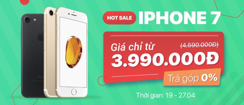 Hotsale iPhone 7 giá chỉ từ 3.990.000đ