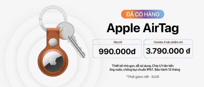 Apple AirTag đã có hàng, giá chỉ 990.000đ