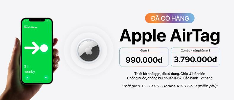 Apple AirTag đã có hàng – giá chỉ 990k