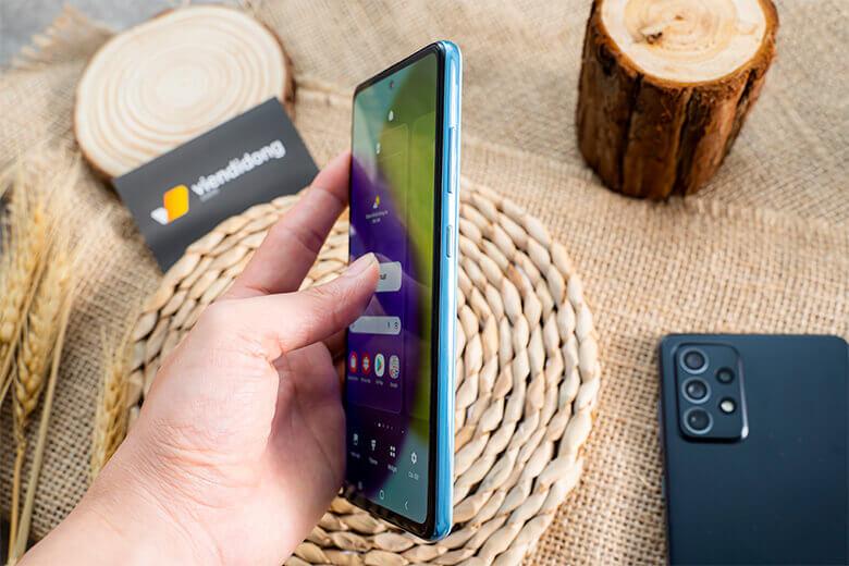 Galaxy A52 128GB được trang bị con chip xử lý Exynos 9611 độc quyền của hàng, được sản xuất trên tiêu chuẩn 10nm, hỗ trợ tiết kiệm thời lượng pin và tăng tốc xử lý của thiết bị.
