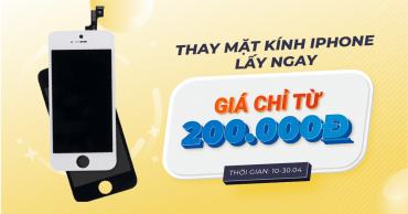 Thay mặt kính iPhone lấy ngay tại Viện Di Động với giá siêu ưu đãi, chỉ từ 200.000đ