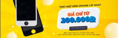 Thay mặt kính iPhone lấy ngay giá chỉ từ 200.000đ