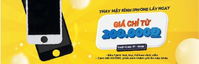 Thay mặt kính iPhone giá chỉ từ 200k