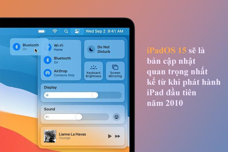 Các cập nhật trên iPadOS 15