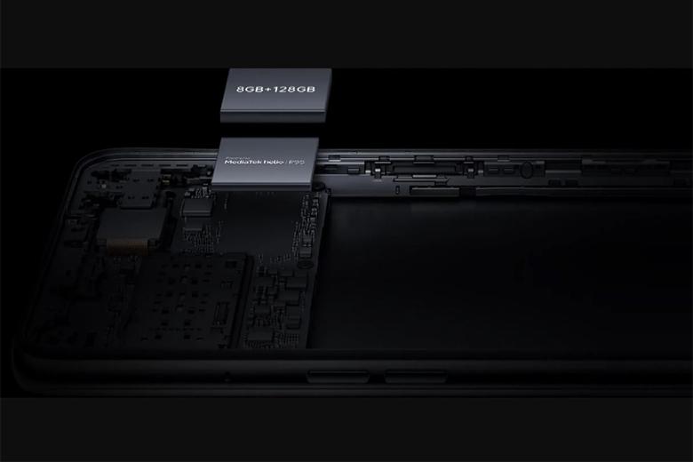 Oppo A94 được trang bị bộ xử lý 8 nhân MediaTek Helio P95 với NPU hỗ trợ công nghệ AI