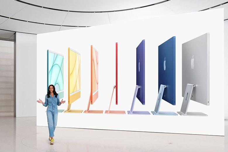 iMac được trang bị bộ xử lý M1 và có tới bảy màu