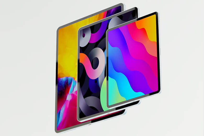 iPad Pro 2021 11 inch M1 có thiết kế màn hìnhLiquid Retina với độ phân giải đạt 2.388 x 1.668 pixel, hỗ trợ gam màu rộng DCI-P3 hỗ trợ màu sắc của máy