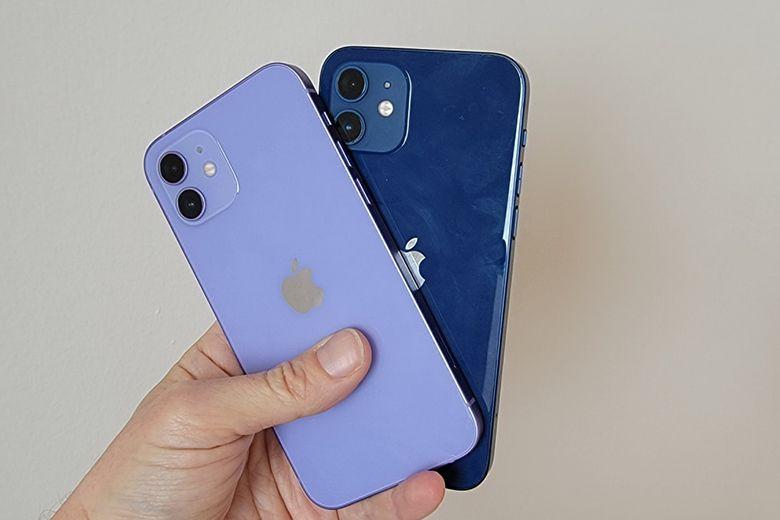 Trên tay và đánh giá nhanh iPhone 12 phiên bản màu tím iphone 12 mau tim va mau xanh viendidong