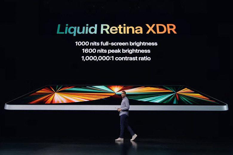 Điểm nhấn của iPad Pro 12,9 inch là màn hình Liquid Retina XDR