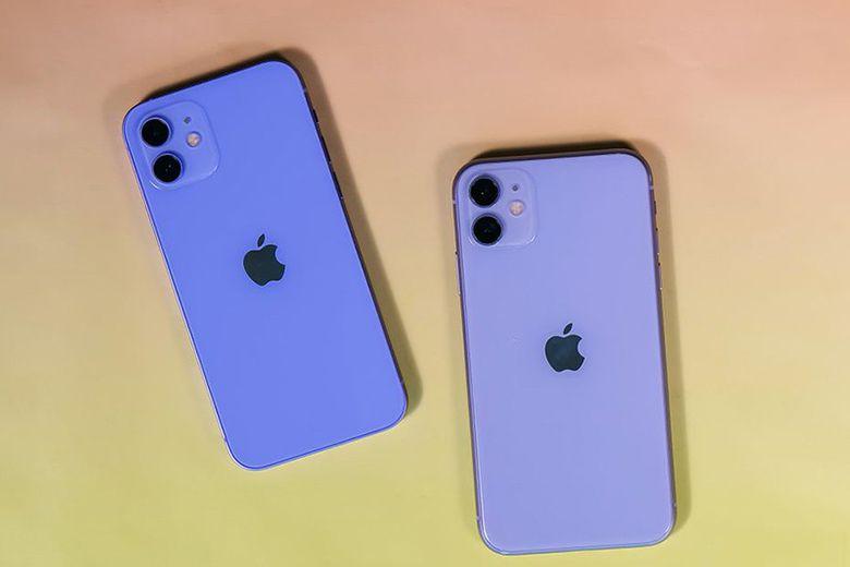 Trên tay và đánh giá nhanh iPhone 12 phiên bản màu tím mau tim tren iphone 12 va iphone 11 viendidong