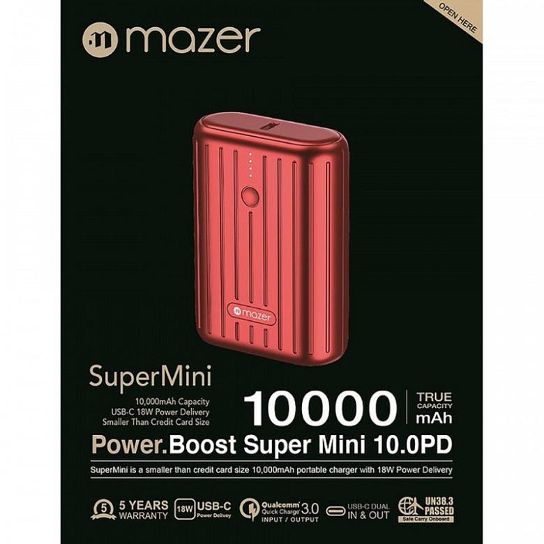 Pin sạc dự phòng Mazer 10.000mAh Super Mini V1 có nhiều tính năng hấp dẫn