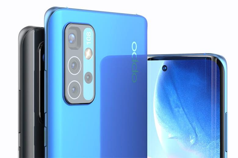 Dòng điện thoại Oppo Reno6 sẽ là sản phẩm được Oppo tiếp tục việc tích hợp 4 camera cảm biến với độ phân giải lần lượt sẽ là 64MP, 8MP và 2MP