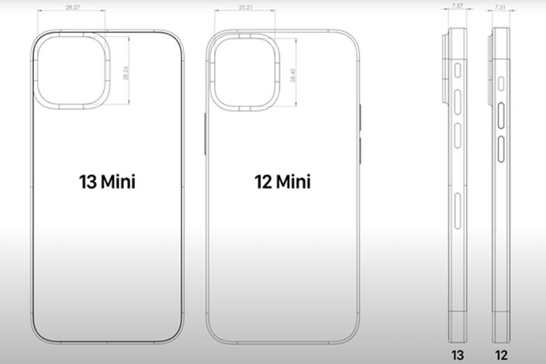 """Mô-đun máy ảnh của iPhone 13 mini, Pro và Pro Max đều sẽ là một """"hình vuông hoàn hảo"""""""