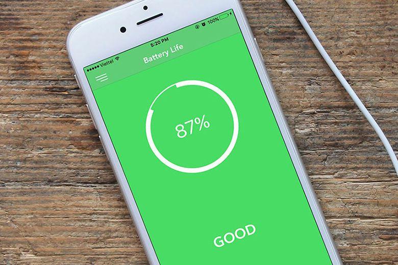 Kiểm tra bằng ứng dụng Battery Life