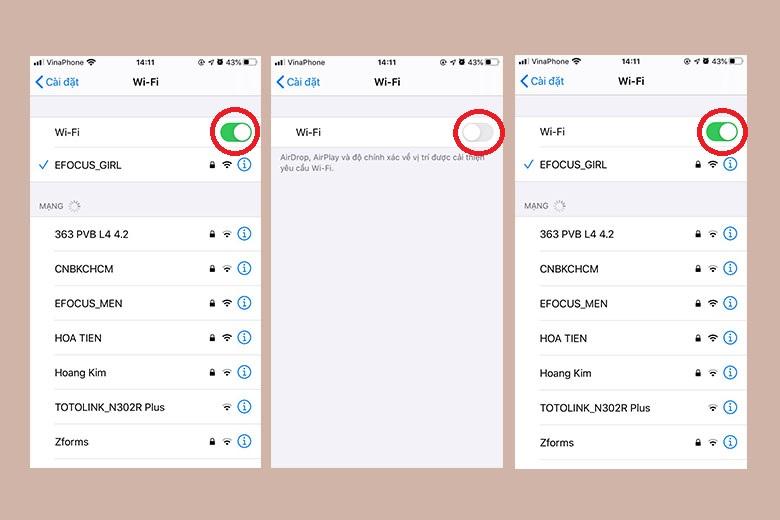 Tắt và bật Wi-Fi hoặc Bluetooth trên iPhone