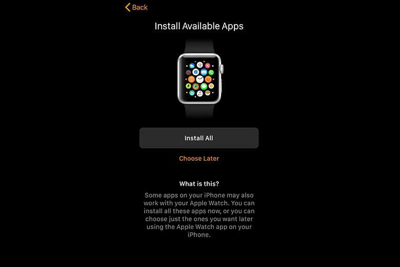 Chọn ứng dụng để thêm vào Apple Watch