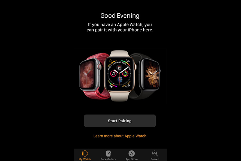 Cách khác mở ứng dụng Apple Watch trên iPhone, sau đó chạm vào Ghép đôi đồng hồ mới.