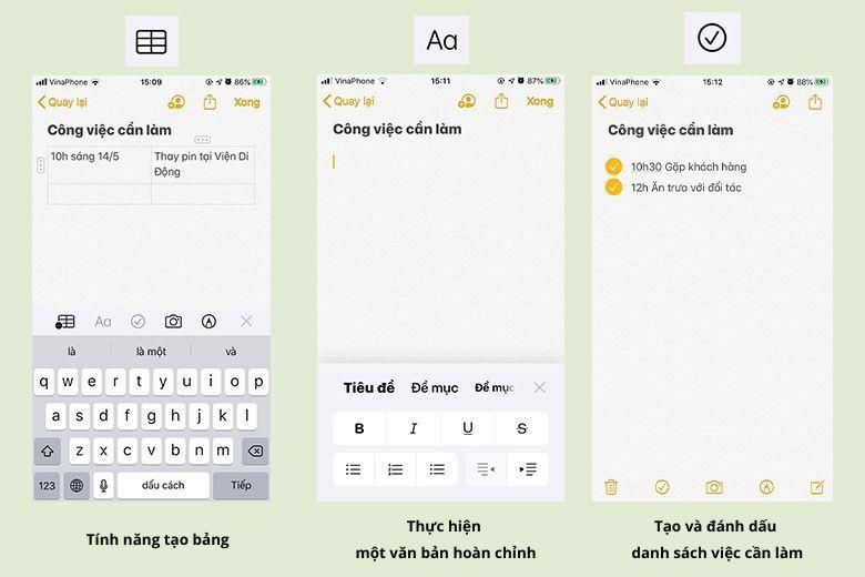 Khám phá điều thú vị trong ứng dụng Ghi chú trên iPhone hoặc iPad (Phần 1) cac tinh nang trong ghi chu tren iphone viendidong