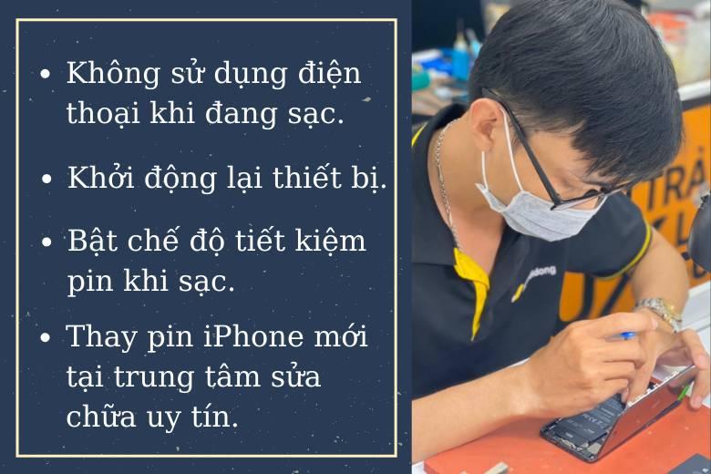 Cách khắc phục vấn đề pin iPhone
