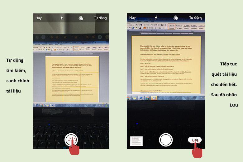 Tự động căn chỉnh tài liệu khi quét