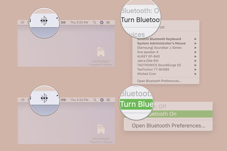 Cách tắt và bật Bluetooth trên máy Mac