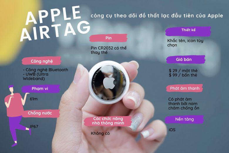 AirTag hoạt động tốt nhất với các thiết bị iOS