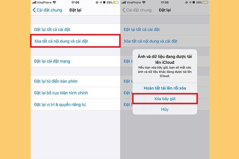 Cách xóa và khôi phục cài đặt gốc trên iPhone