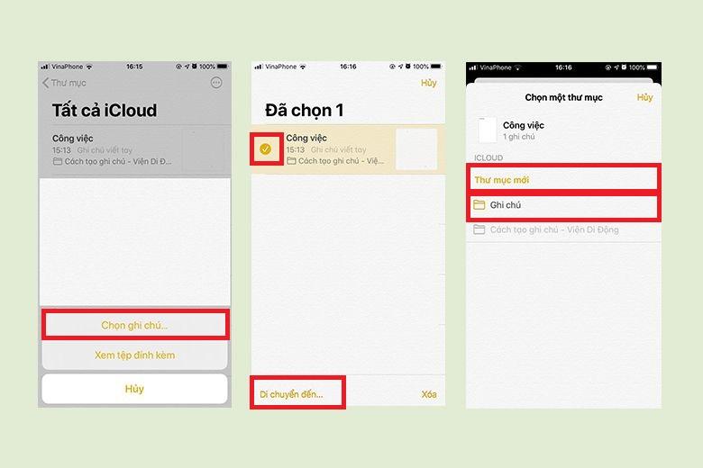 Khám phá điều thú vị trong ứng dụng Ghi chú trên iPhone hoặc iPad (Phần 1) di chuyen cac ghi chu tren iphone viendidong