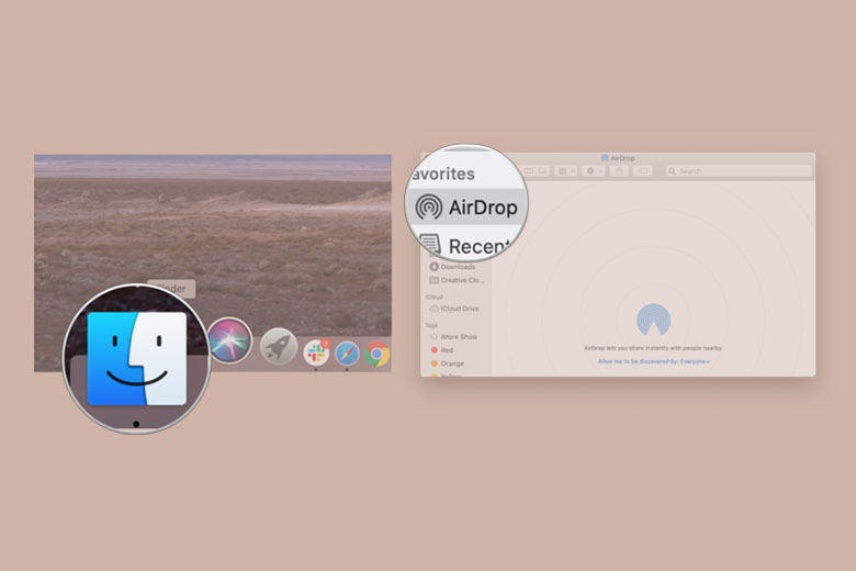 Mở AirDrop trên máy Mac