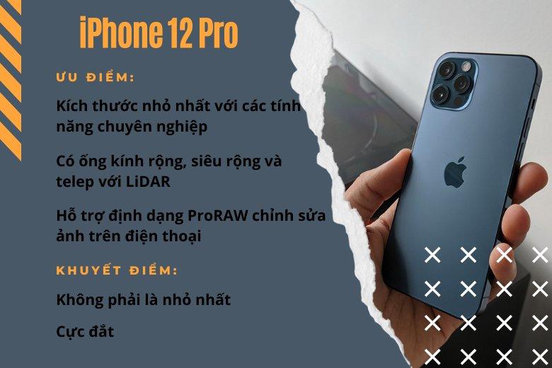 Nhỏ gọn nhất với nhiếp ảnh gia: iPhone 12 Pro