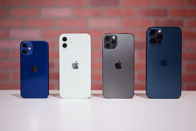 Bốn mẫu điện thoại iPhone 12 series