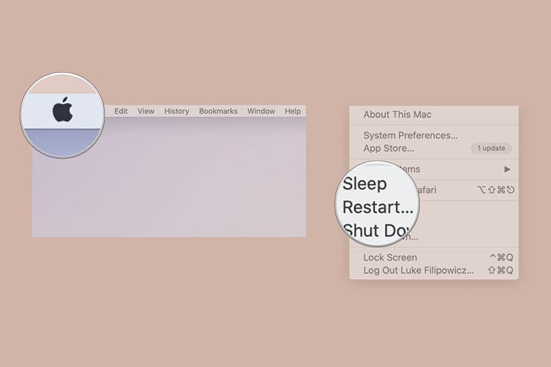 Cách khởi động lại máy Mac