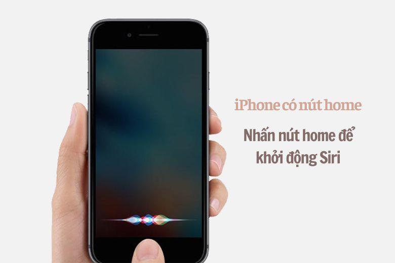 Cách thay đổi giọng nói và giới tính của Trợ lý ảo Siri trên iPhone khoi dong siri tren iphone co nut hone viendidong