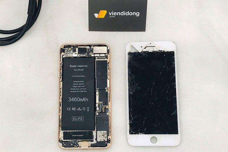 Màn hình iPhone bị vỡ sữa chữa tại Viện Di Động