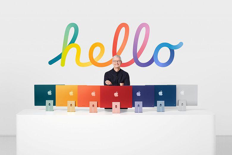 Bảng màu sắc của iMac 2021 ra mắt vào tháng trước