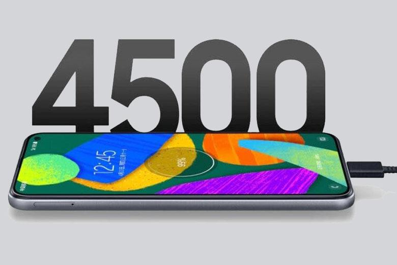 Samsung trang bị cho Galaxy F52 5G viên pin 4500 mAh