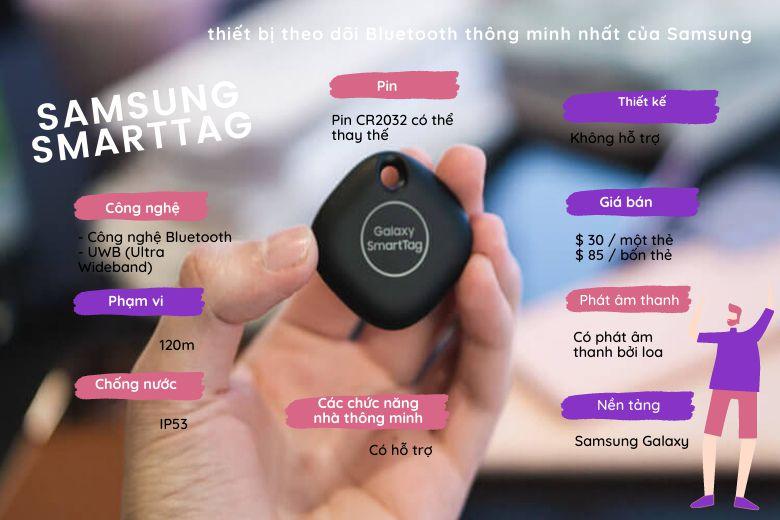 SmartTag sẽ chỉ hoạt động cùng với điện thoại thông minh Samsung Galaxy