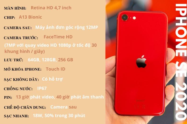 Thông số kỹ thuật điện thoại iPhone SE 2020