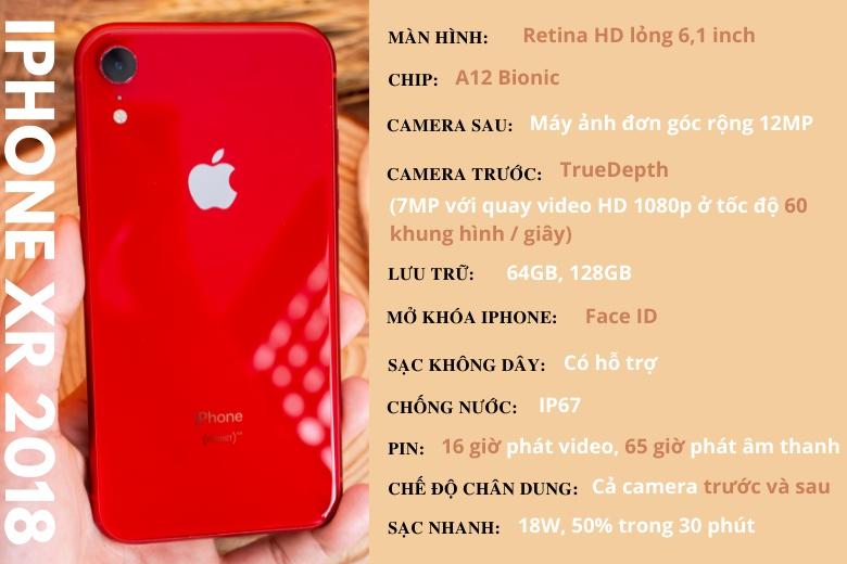 Thông số kỹ thuật điện thoại iPhone XR